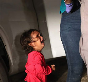 child being separated from parent